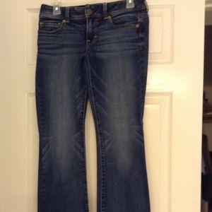 American Eagle Kick Boot dark denim jeans